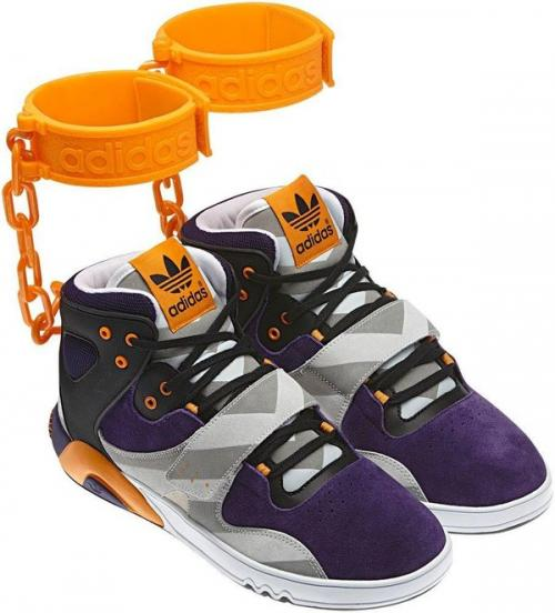 "Adidas Releases Controversal JS Roundhouse ""Shackle"" Mid-Top Shoe; Take Our Poll!"